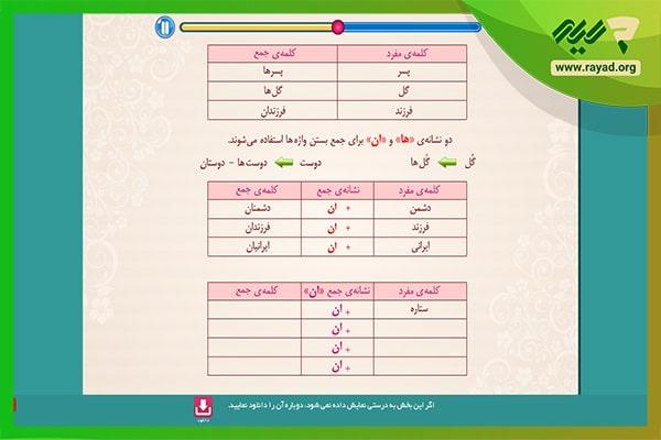 فارسی میشا کوشا ششم دبستان