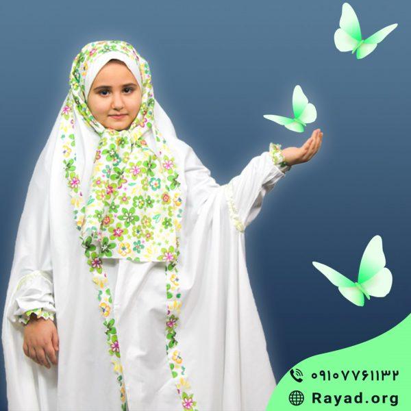 ست چادر نماز جشن تکلیف سدنا سبز