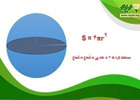 چگونگی محاسبه مساحت کره