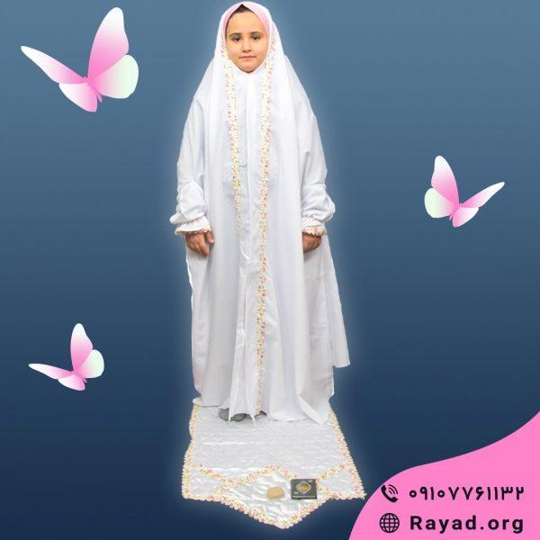 مدل چادر نماز جشن تکلیف گلدار