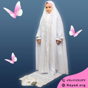 چادر نماز جشن تکلیف گلدار سوگل