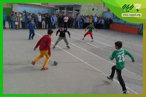 مسابقه فوتبال مدارس