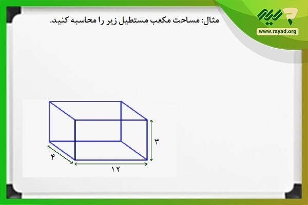 محاسبه مساحت مکعب