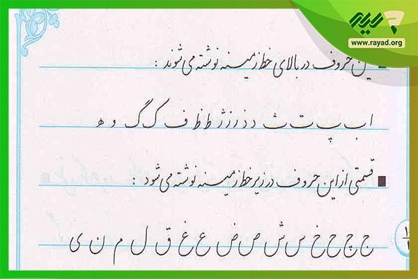 آموزش خط تحریری به کودکان با کتاب خط