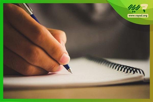 تمرین خوشنویسی با خودکار