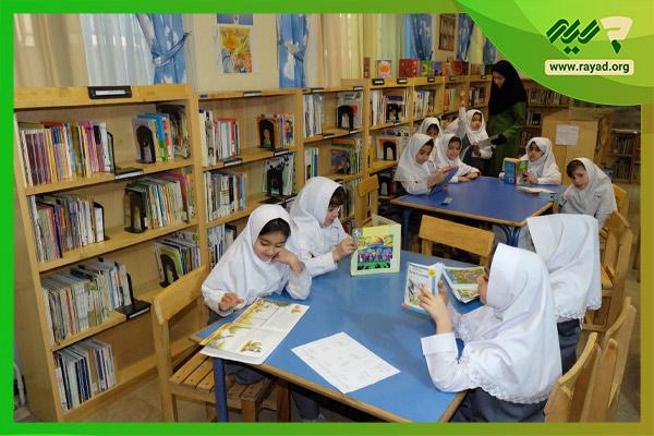 مسابقه کتابخوانی در مدرسه
